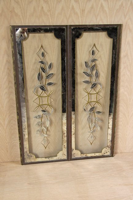 Pair of bronze framed windows
