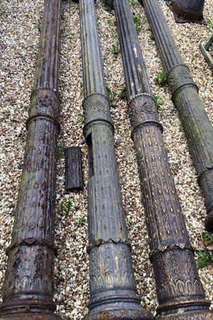 Cast iron columns (Reserved)
