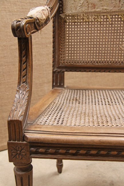 Louis XVI cane chair