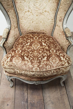 Louis XV style wing chair