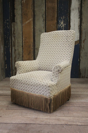 High, square back armchair (Reserved)