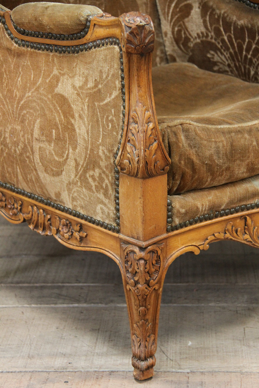 Large Louis XV wing chair