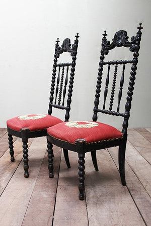 Pair of late 1800's fireside chairs