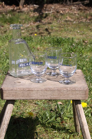 Ricard glasses and carafes