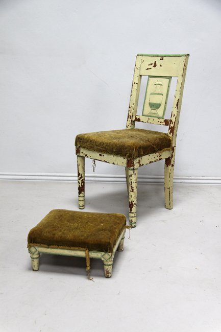 Directoire period chair and stool