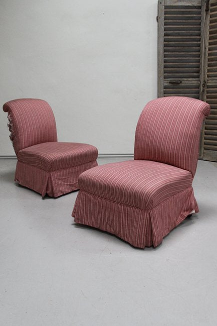 Pair of slipper chairs