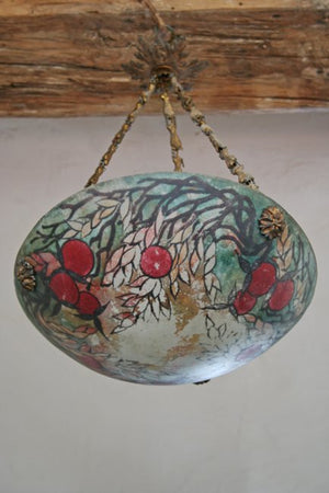 20th century hand-painted light