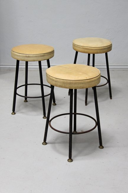 Set of 3 mid-century stools