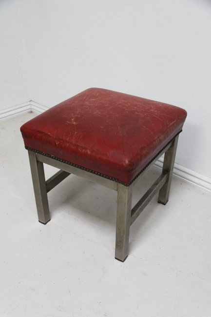 Leather topped stool