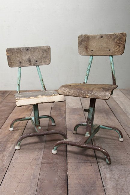 Two industrial chairs