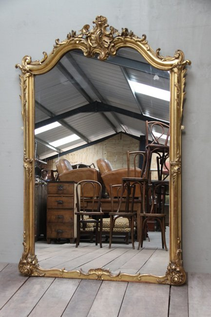 Louis XV crested mirror