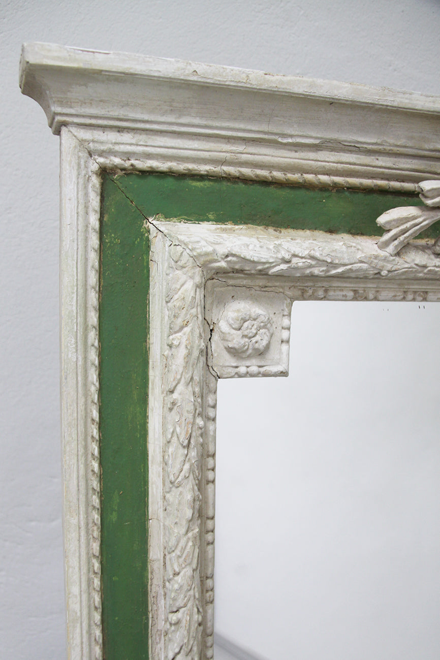 Painted Louis XVI style mirror