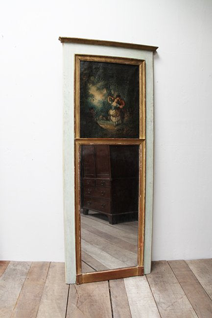 Trumeau mirror with oil painting