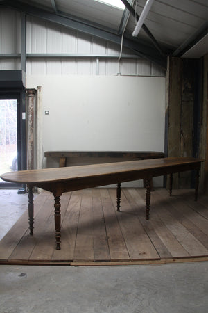 Very long French bistro table
