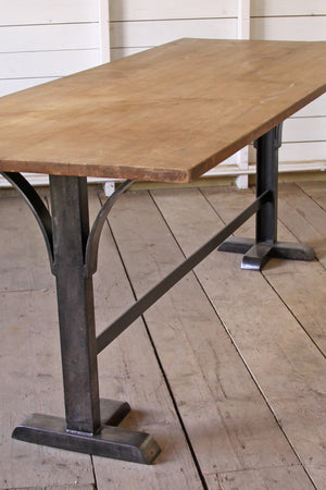 Table with metal base