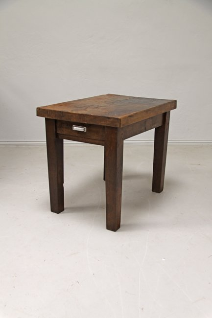 Heavy elm top table