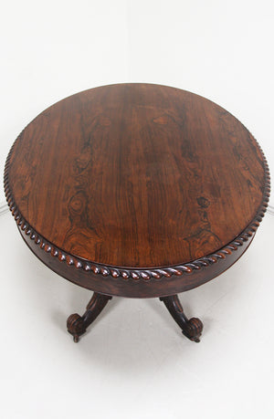 Rosewood pedestal table