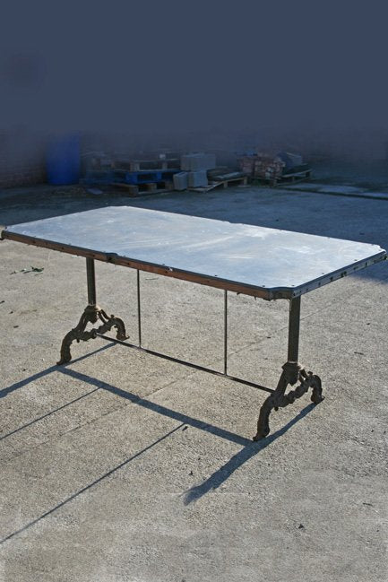 Slate top garden table