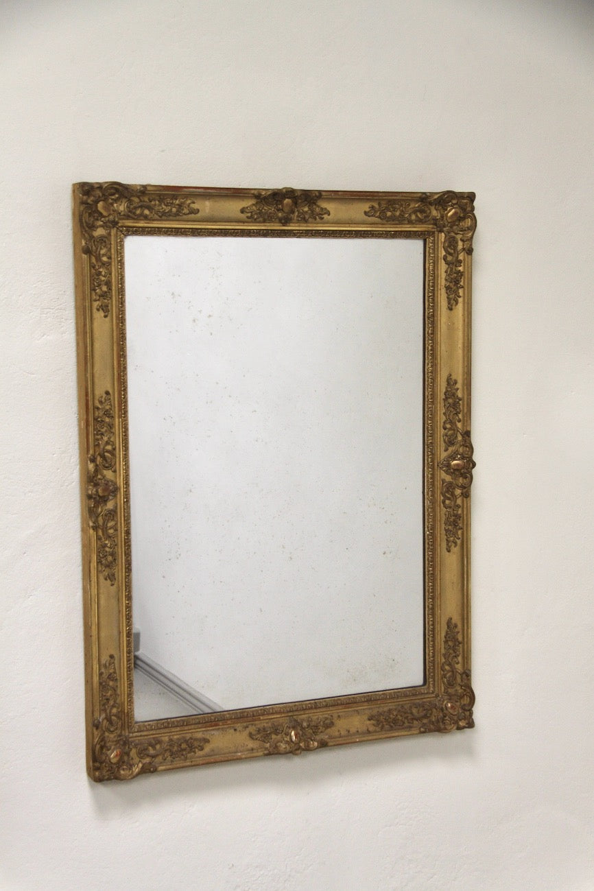 Early 1800's gold framed mirror