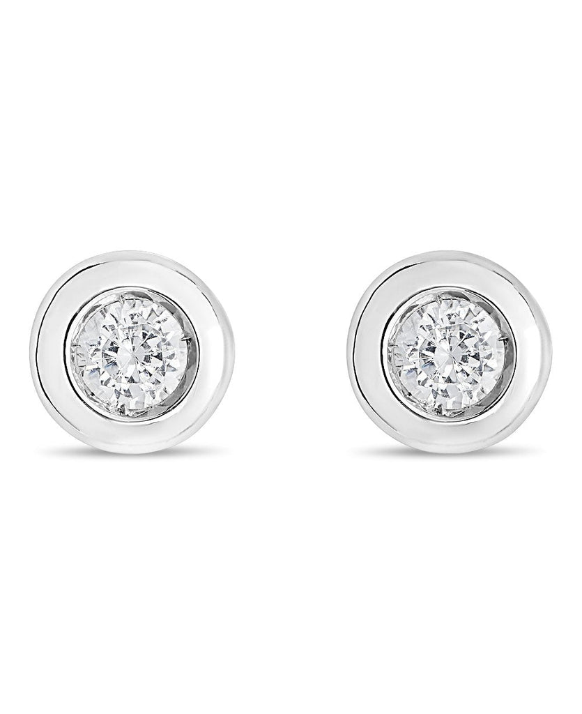 Round Baby Earrings 0.10 ct