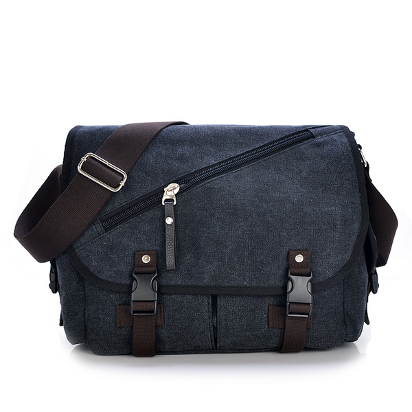 D-091 Large Canvas Messenger Bag