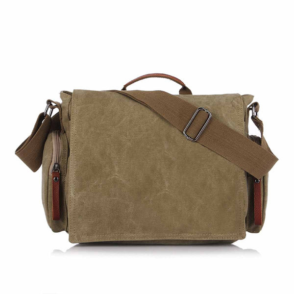 D-092 Canvas Flap Over Messenger Bag