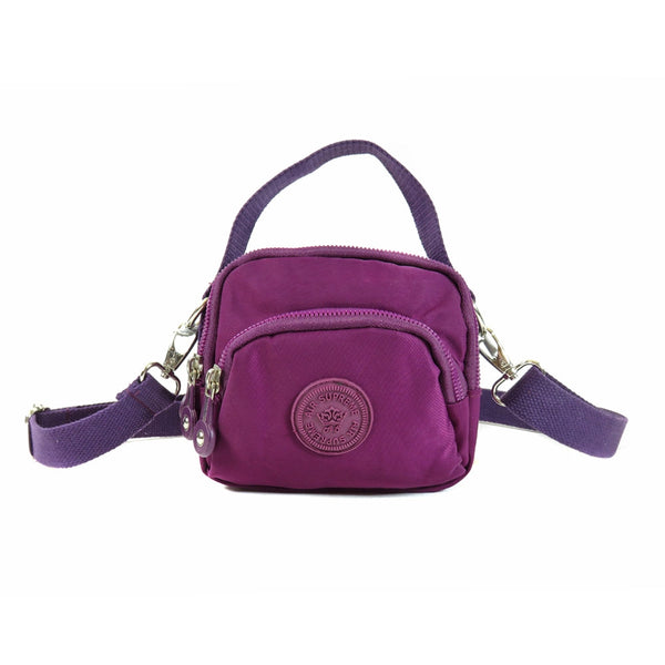 D-251-A Mini Multiple Zip Handle Cross Body Bag