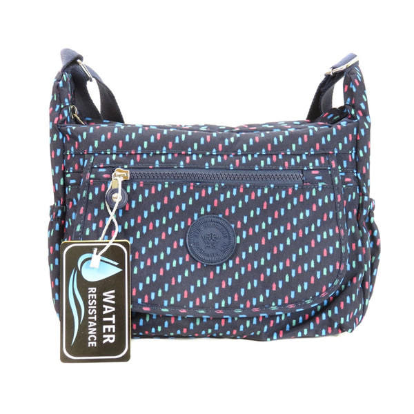 D-172 Pattern Flap Over Cross Body Bag