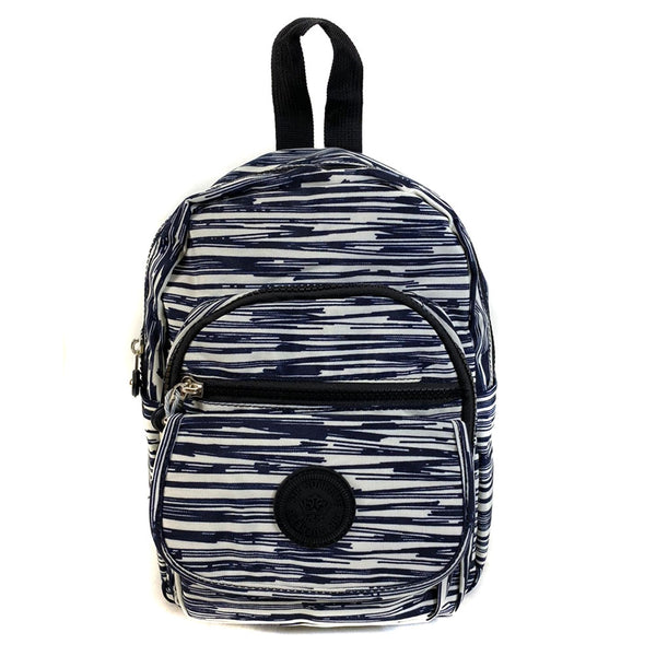 D-267 Small Mutiple Zip Pattern Backpack