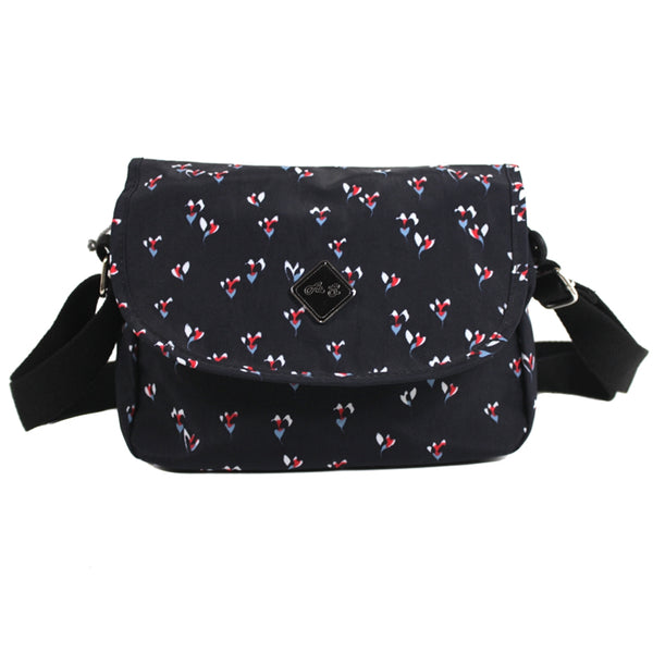 D-171 Pattern Flap Over Small Cross Body Bag