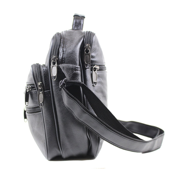 D-186 Large Leather Mutiple Messenger Bag