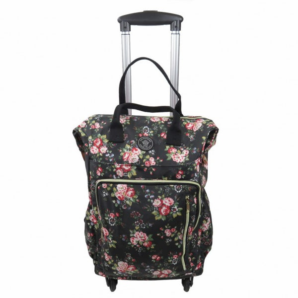 D-212 Floral Wheeled Flight Bag and  Backpack