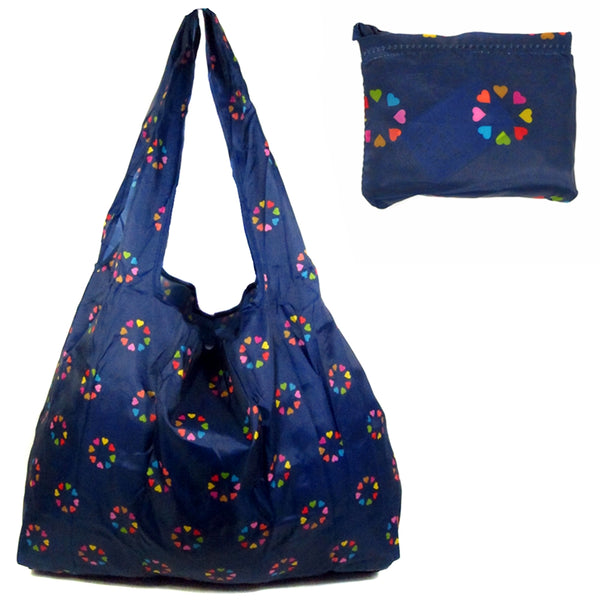 D-197 Floral Large Shopper Fold Bags
