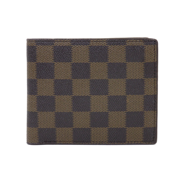 B7047-1 Checked Design Mens Wallet