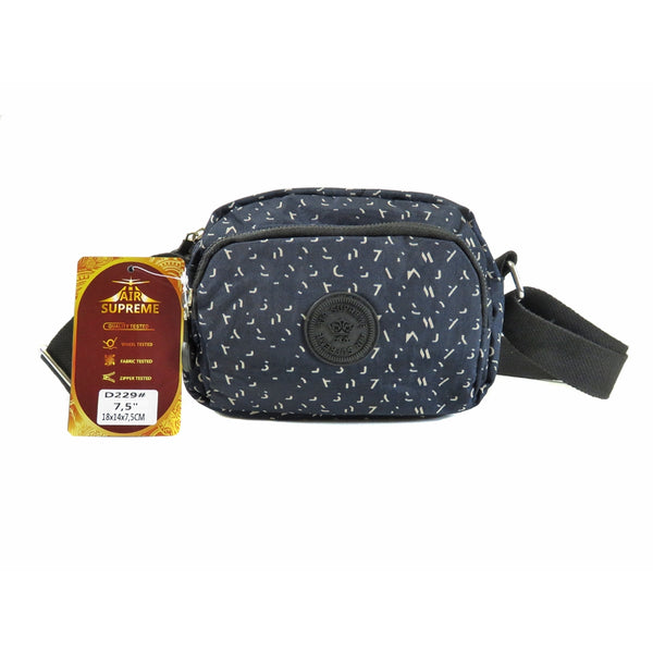 D-229 Small Pattern Multi Pockets Cross Body Bag