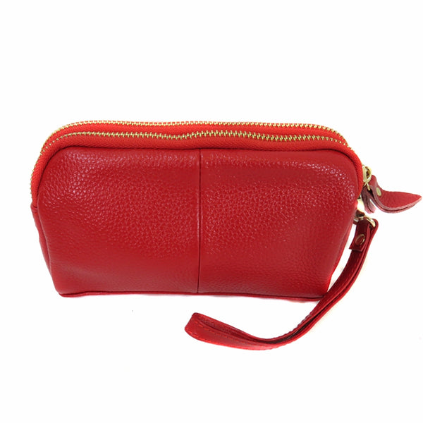 6002-A Double Zip Wrist Purse