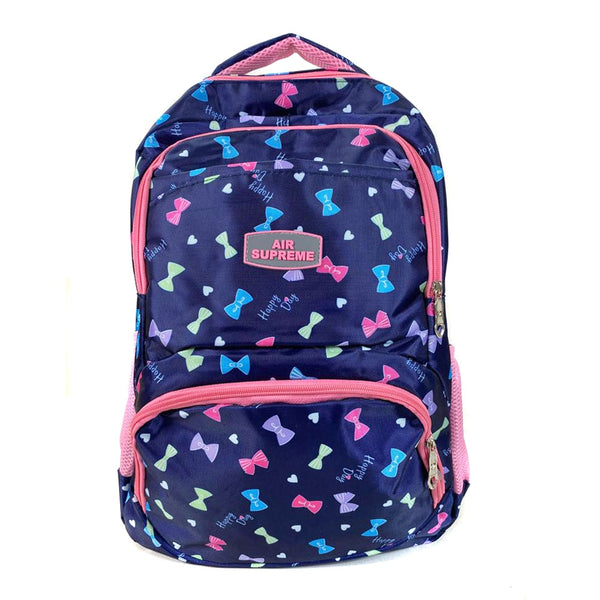 D-286 Cute Bow Design Print Travel Backpack