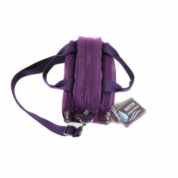 D-231 Multiple Zip Handle Cross Body Bag