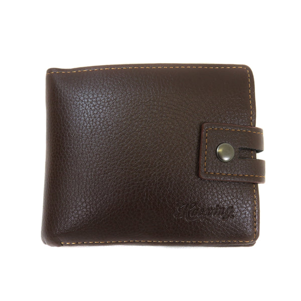 135-3 Mens Button Closure Wallet