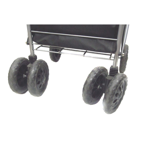"6"" Wheel Shopping Trolley Green Check"