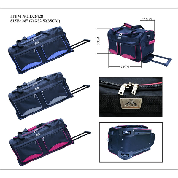 D263-28inch Wheeled trolley holddall Suitcase case