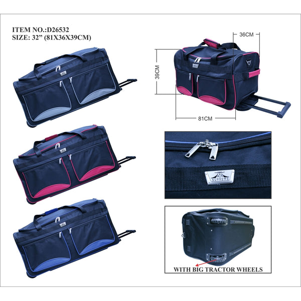 D263-32inch Wheeled trolley holddall Suitcase case