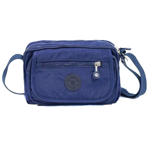 D-189 Multiple Zip Small Cross Over Bag