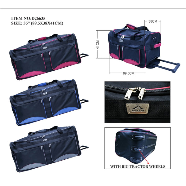 D263-35inch Wheeled trolley holddall Suitcase case
