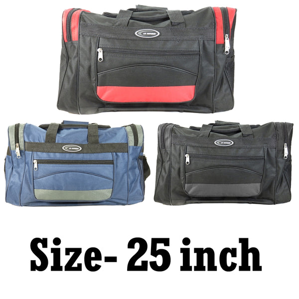 D-025-25inch Contrast Color Holdall Travel Bag