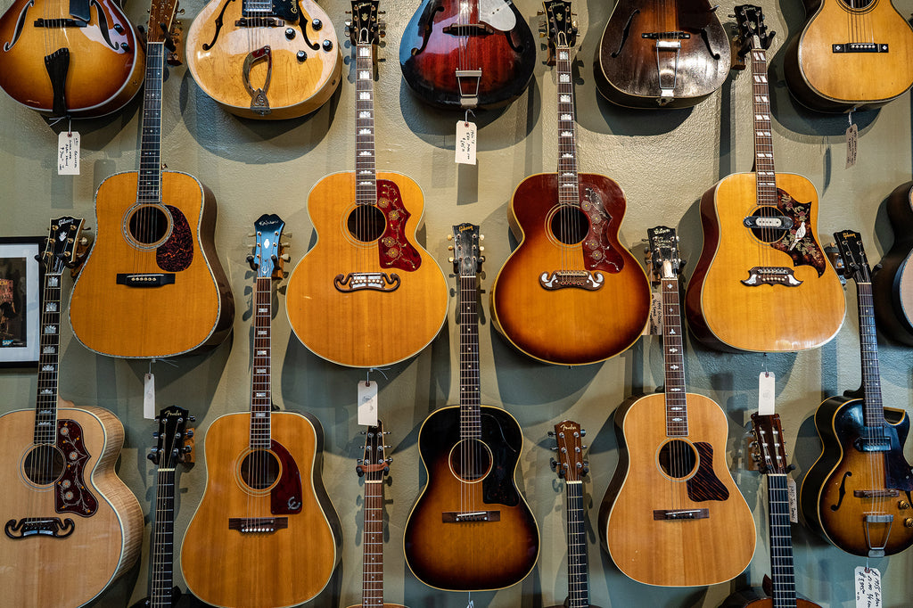 Gibson and Fender acoustic guitars at Imperial Vintage Guitars Los Angeles