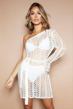 Load image into Gallery viewer, The Sara Crochet Dress White