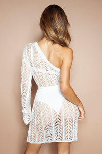 The Sara Crochet Dress White