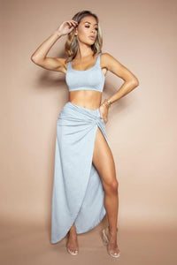 The Pia Grey Maxi Two Piece