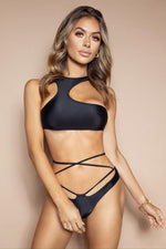 Load image into Gallery viewer, The Strappy Bikini Black